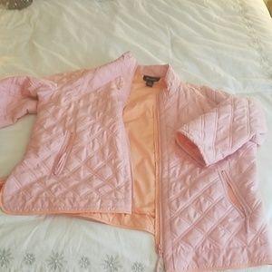 Denim & Co. Pink puffer jacket